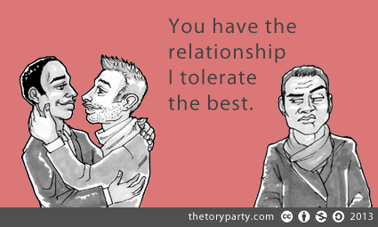 You have the relationship I tolerate the best.