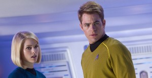 Star Trek Into Darkness Chris Pine Alice Eve grave concern