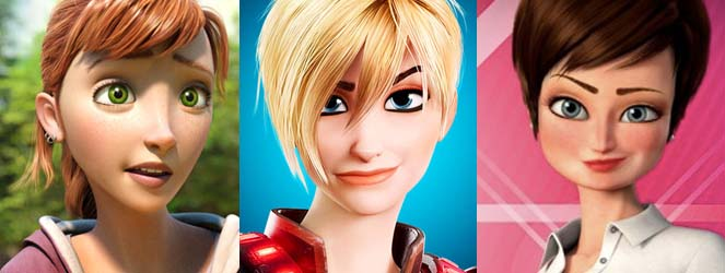 Animated Female Lookalikes