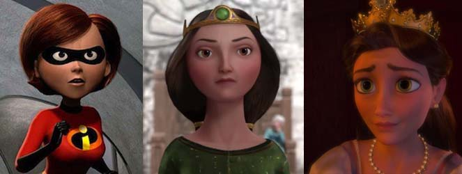Animated female lookalikes moms